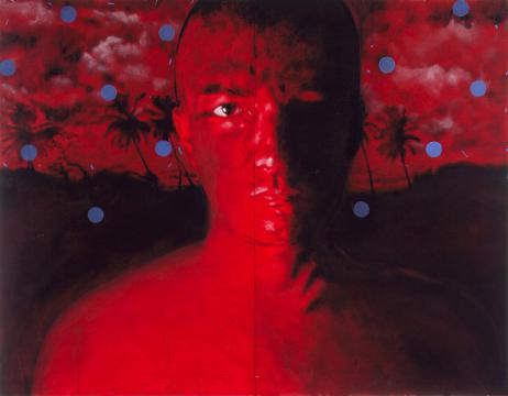 Autorretrato (fondo rojo)