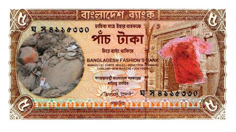 "Derrumbe de la moda 2. De la serie ""Fashion made in Bangladesh"""