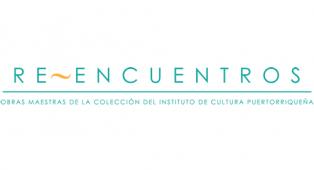 Logo de la exhibición Reencuentros: Obras maestras de la colección del Instituto de Cultura Puertorriqueña