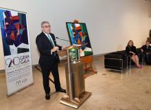 El Lcdo. Arturo García-Solá, Presidente de la Junta de Síndicos del MAPR, hablando durante la confenrecia de prensa del evento.