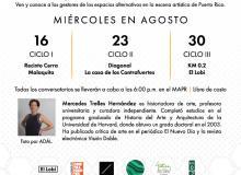 """Promoción para la Serie de conversatorios """"De Artistas Por Artistas"""" el 16, 23 y 30 de agosto de 2017"""