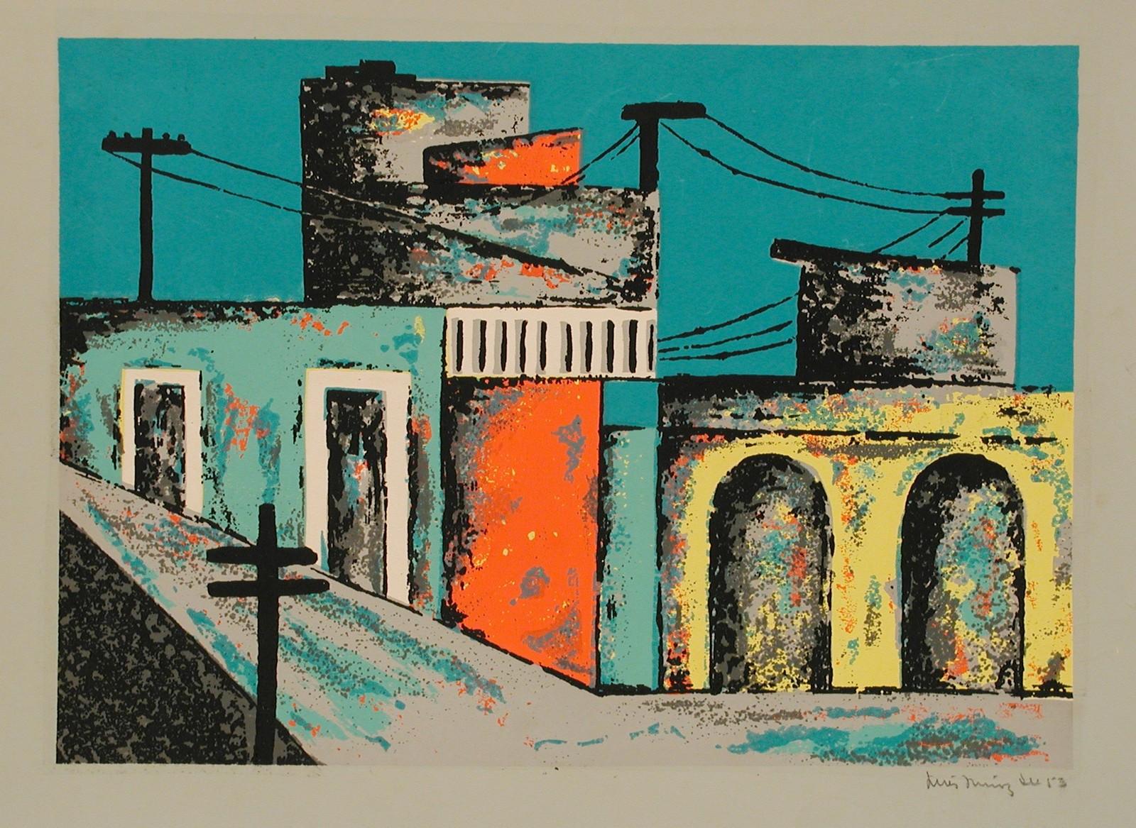 Sin título (portafolio Estampas de San Juan, Centro de Arte Puertorriqueño)