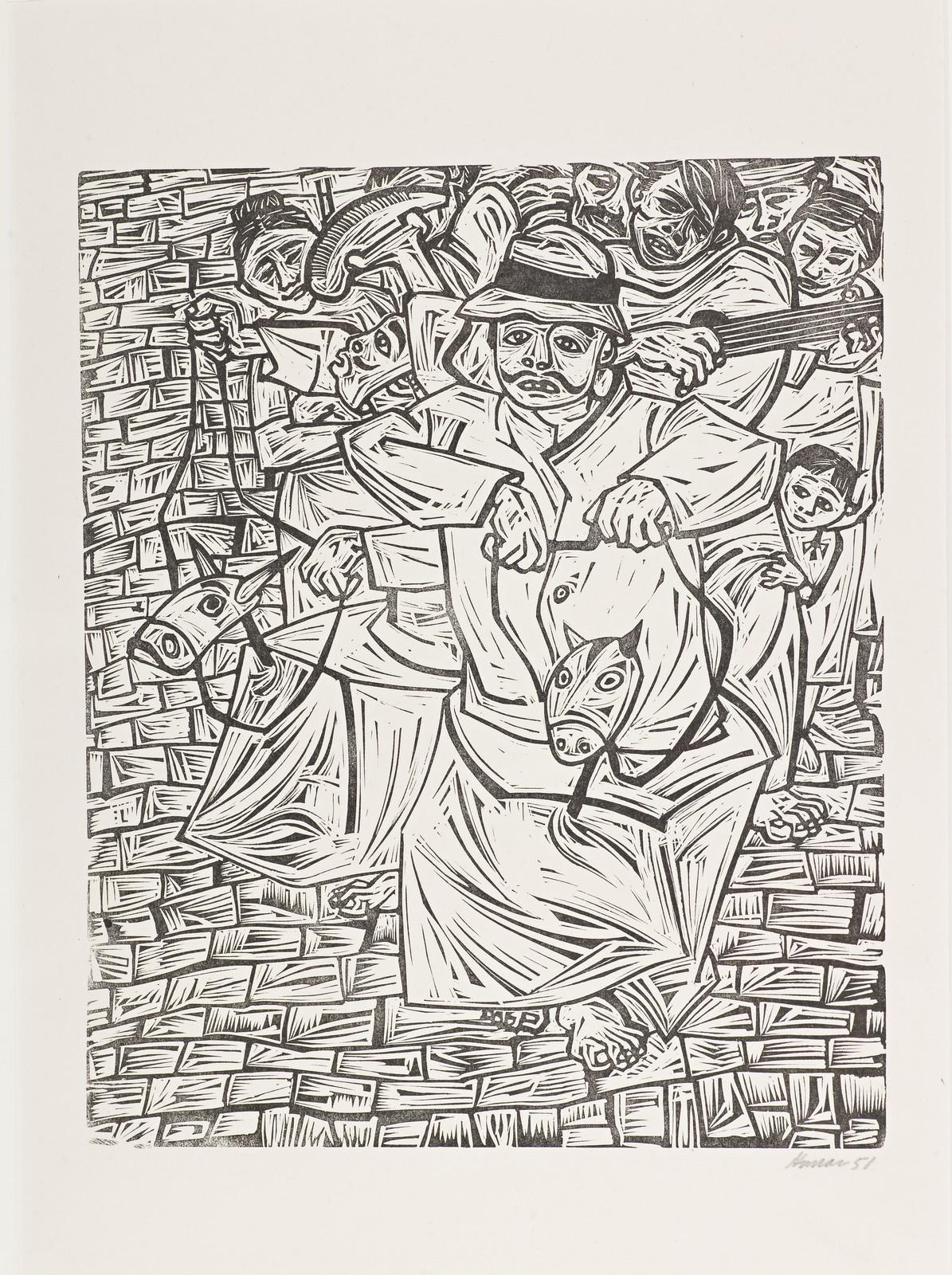 Saltimbanquis (The Puerto Rican Print portfolio, Center for Puerto Rican Art)