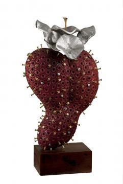 Flor de la Guanábana púrpura corazón púrpura