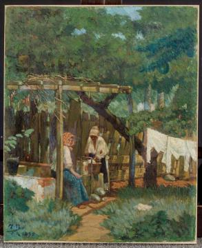 Las lavanderas en patio de Ponce