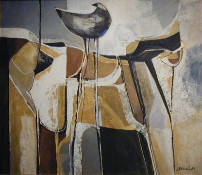 Caballo con pájaro
