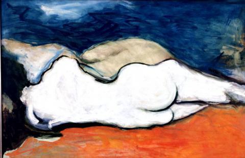 Desnudo en tricolor