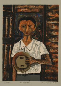 La llegada (porfolio Estampas de San Juan, Centro de Arte Puertorriqueño)