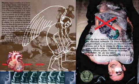 """Apunte tanático. De la serie """"Recreando a Goya en Abu Ghraib"""""""