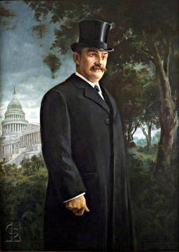 Retrato Luís Muñoz Rivera en Washington
