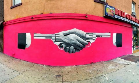 Hand shake (Brooklyn, NY)