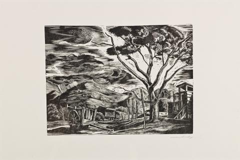 "Yauco Landscape (""The Puerto Rican Print"" portfolio, Center for Puerto Rican Art)"