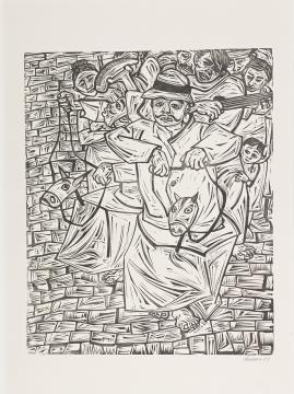 Saltimbanquis (porfolio La estampa puertorriqueña, Centro de Arte Puertorriqueño)