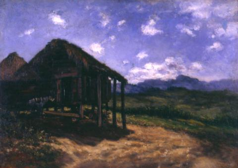 Landscape with hut