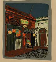 Calle Virtud (portafolio Estampas de San Juan, Centro de Arte Puertorriqueño)