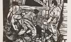 Obreros (portafolio La estampa puertorriqueña, Centro de Arte Puertorriqueño)